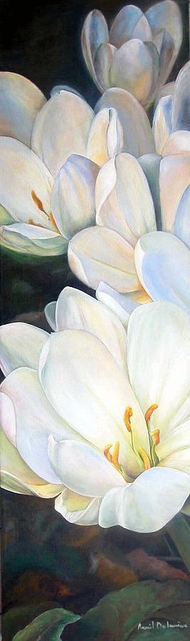 Fleurs Painting - Crocus by Muriel Dolemieux
