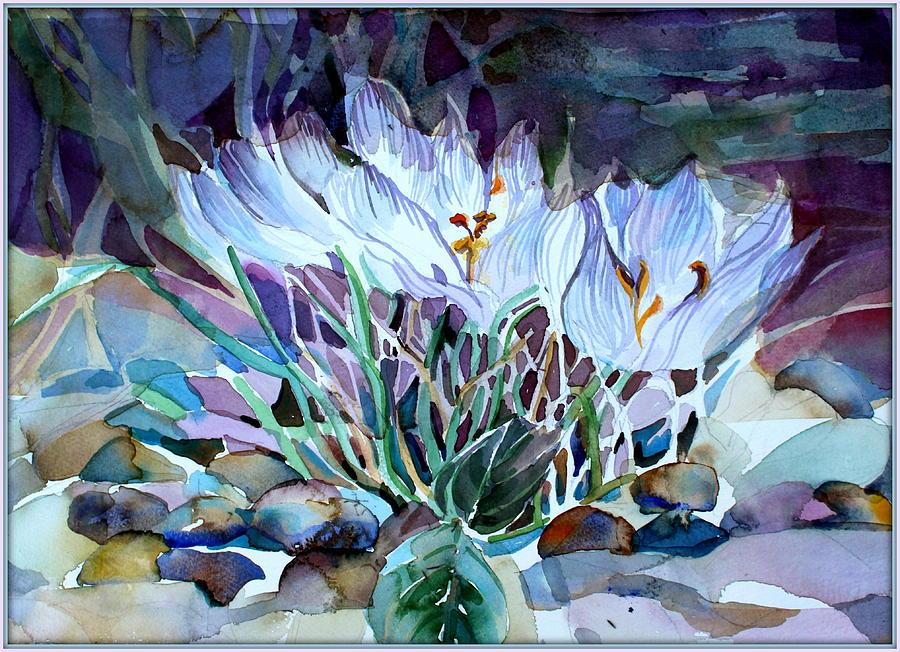 Crocus Saffron Painting By Mindy Newman