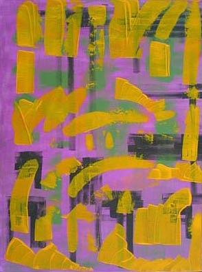 Abstract Painting - Croix Ye Moi Plus 2003 by Annick Gauvreau