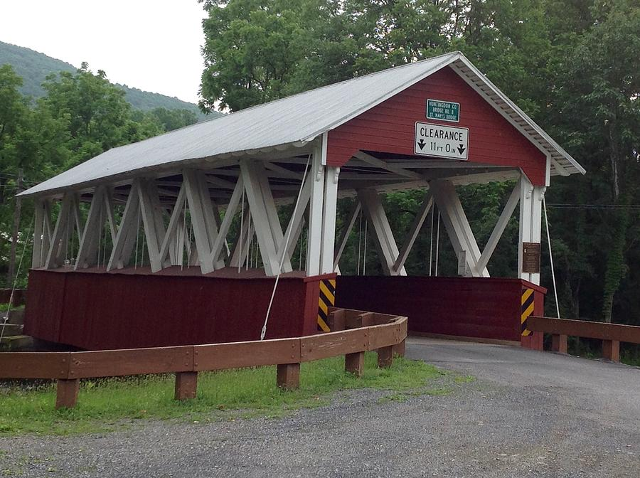 Cromwell Township Pennsylvania Covered Bridge by Wendy S Beatty