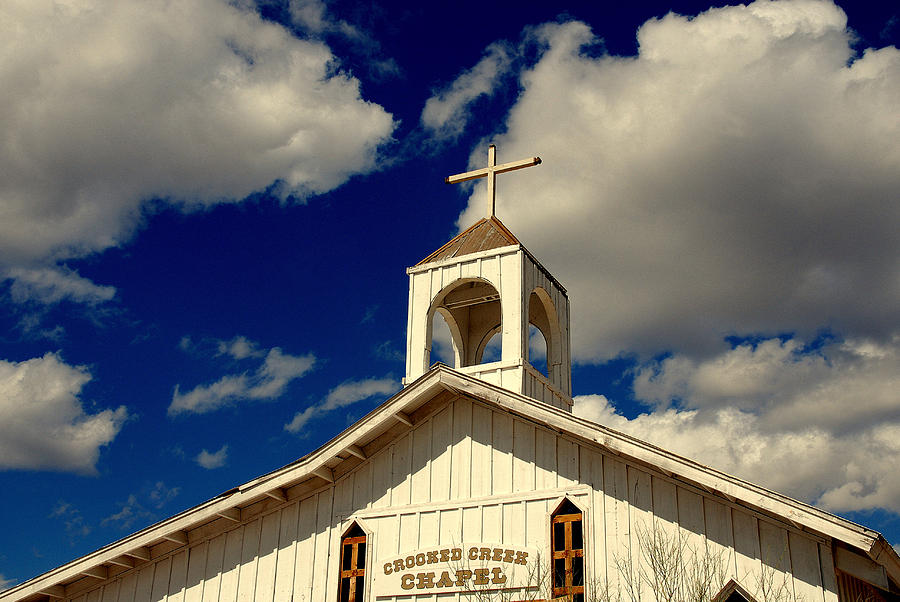 Old Tuscon Photograph - Crooked Creek Chapel by Susanne Van Hulst