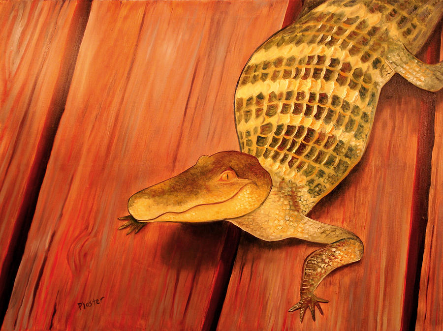 Alligator Painting - Crooked Smile by Scott Plaster