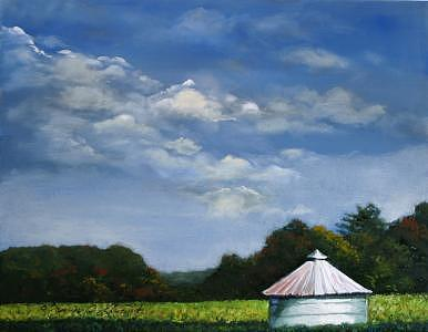 Crooked Tin Roof-lancaster County Pa Painting by Jeanie Chadwick