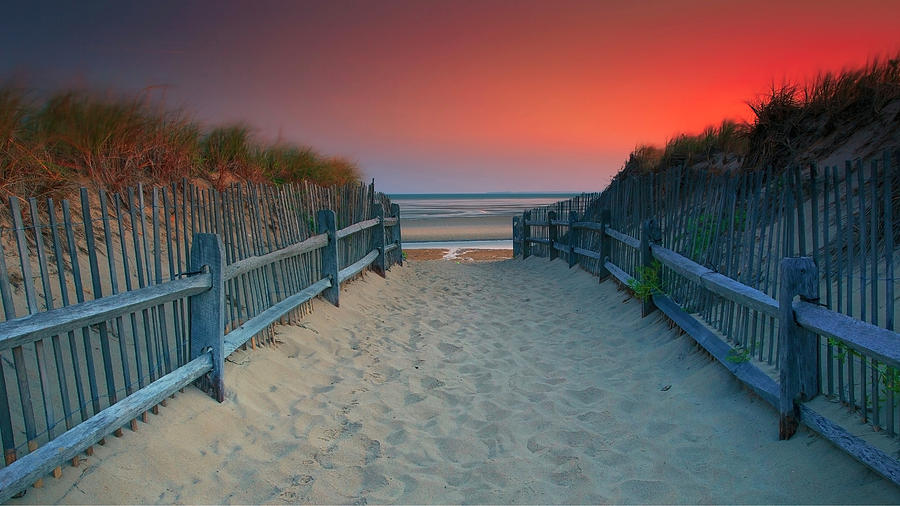 Brewster Photograph - Crosby Landing Beach Entrance by Dapixara Art