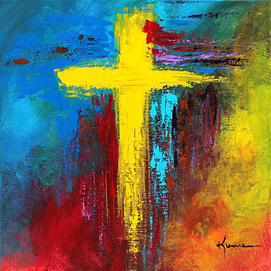 Christian Painting - Cross No.2 by Kume Bryant