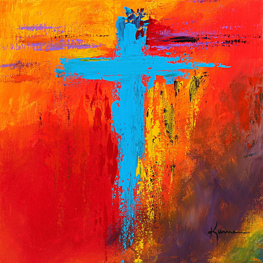 Cross 3 painting by kume bryant for Cross paintings on canvas