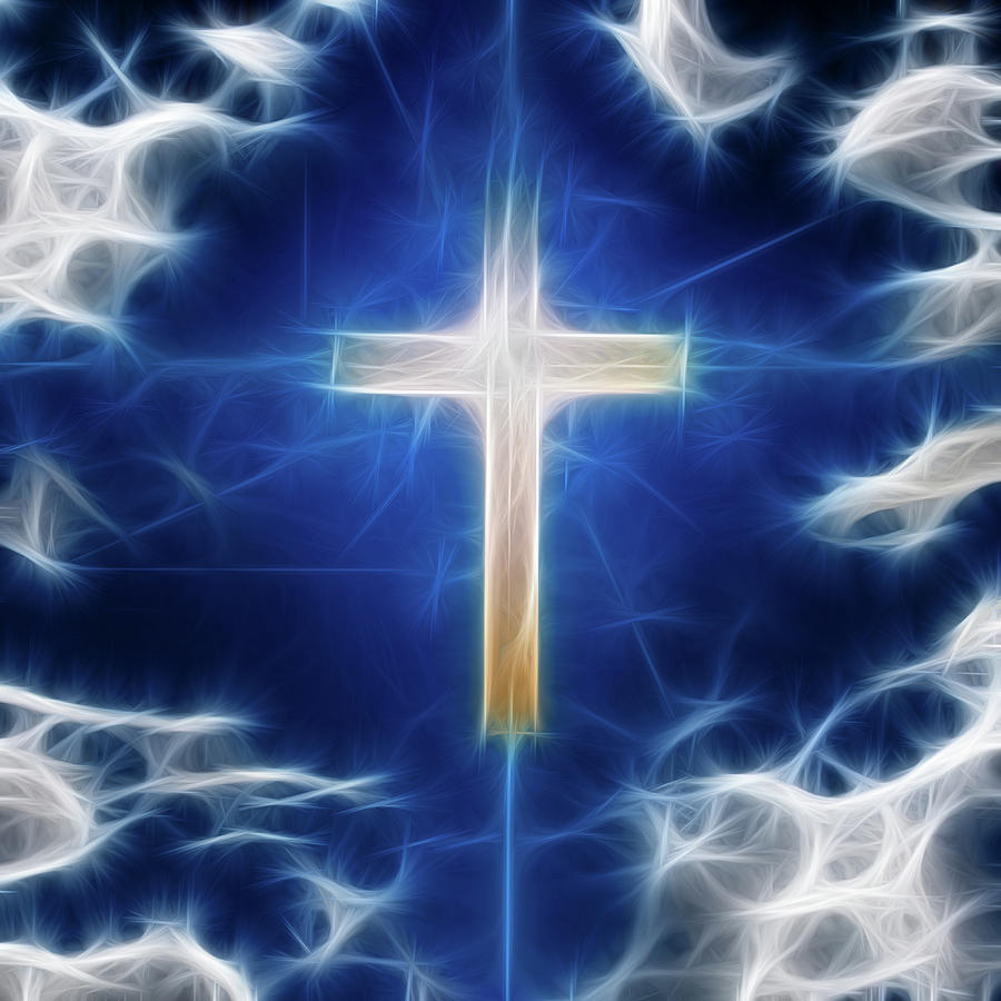 Cross Digital Art - Cross Abstract by Bruce Rolff