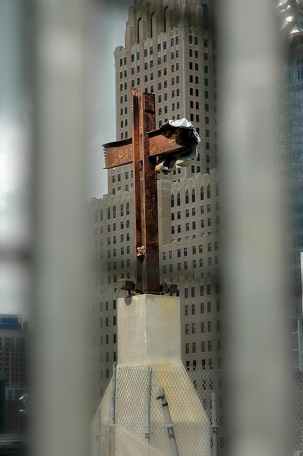 Cross Photograph - Cross At Ground Zero by Frank Mari