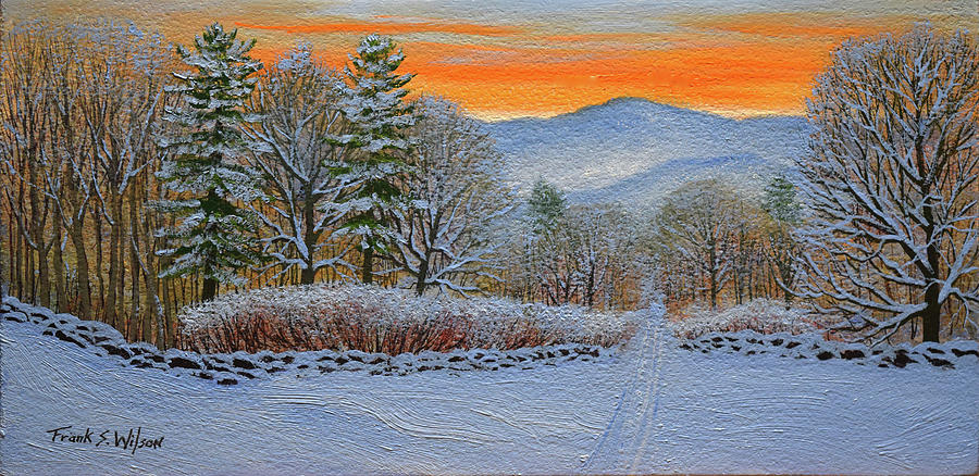 Cross Country Ski Trail Painting