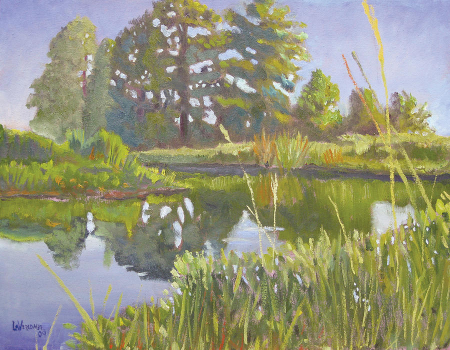 River Painting - Cross Creek by D T LaVercombe