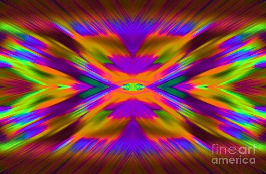 Abstract Digital Art - Cross Fire by Lorles Lifestyles