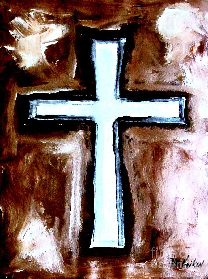 Painting Painting - Cross For Me by Marsha Heiken
