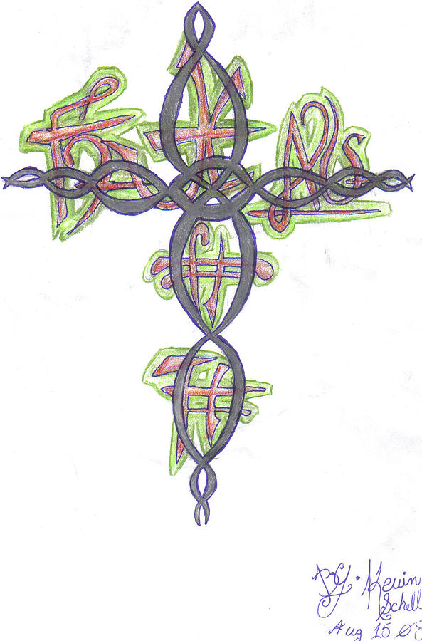 Cross Drawing by Kevin Schell