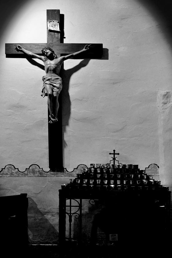 Cross Mission San Diego de Alcala by Christine Till