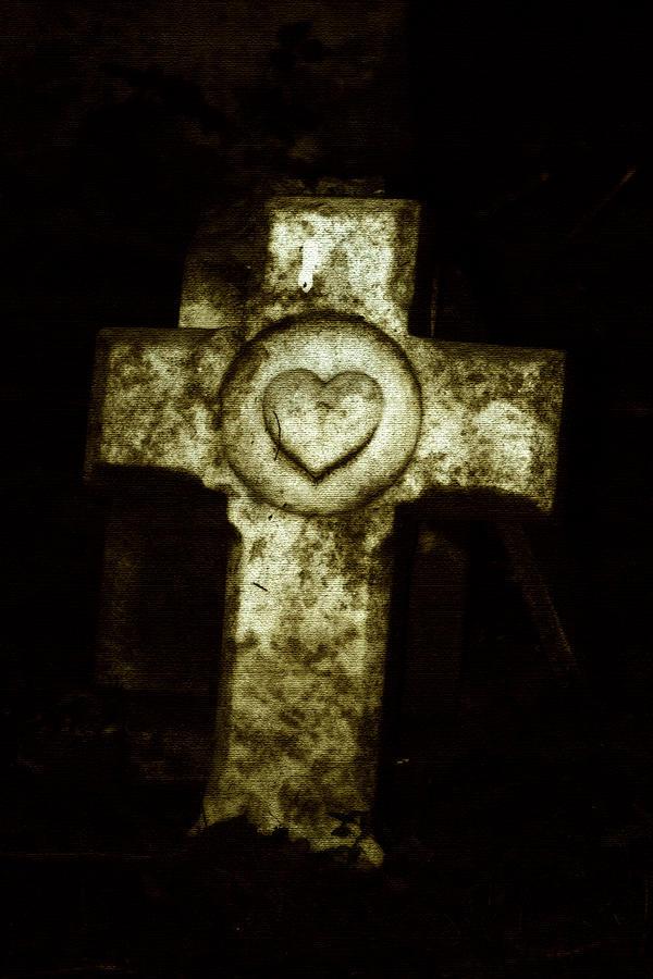 Cross Photograph - Cross My Heart by Carl Perry