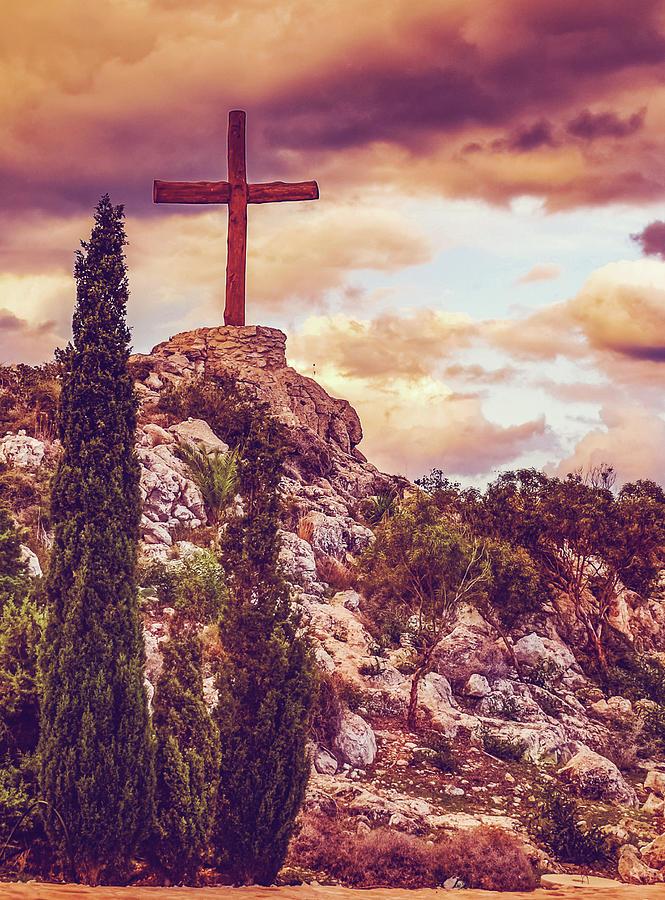 Cross On The Hill by KaFra Art