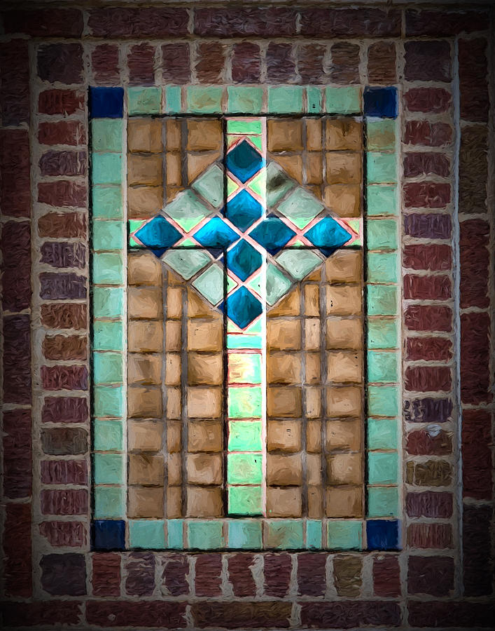 Cross Digital Art - Cross On The Wall by John Haldane