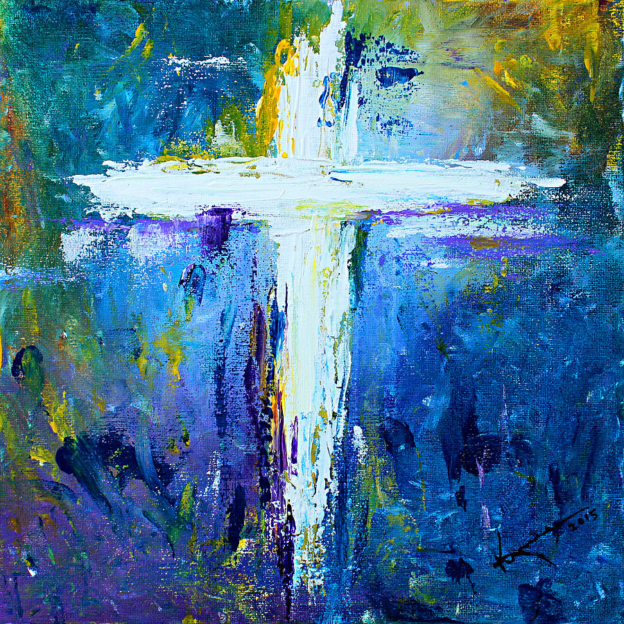 Cross painting 4 painting by kume bryant for Cross paintings on canvas
