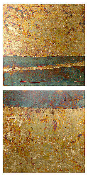 Abstract Painting - Cross Section by Wayne Berger