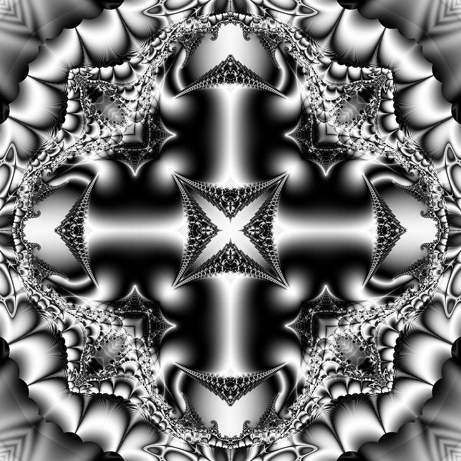 Fractal Digital Art - Cross by Sfinga Sfinga