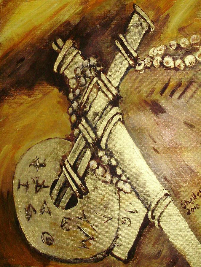Cross Painting - Cross by Shelley Bain