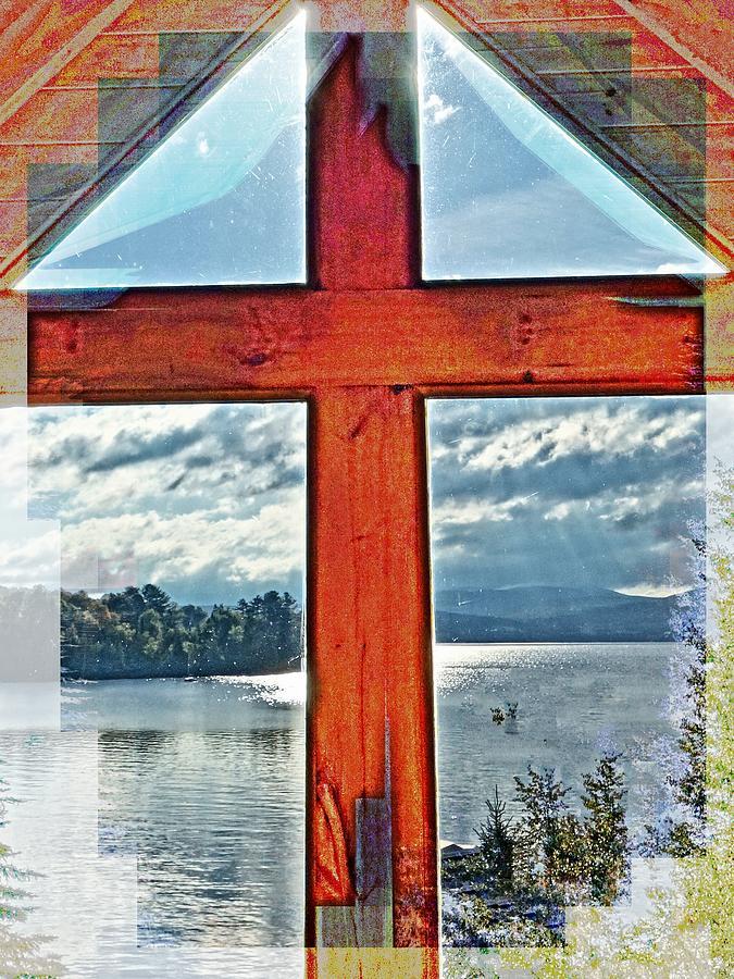 Cross Window Lake View  by Russ Considine