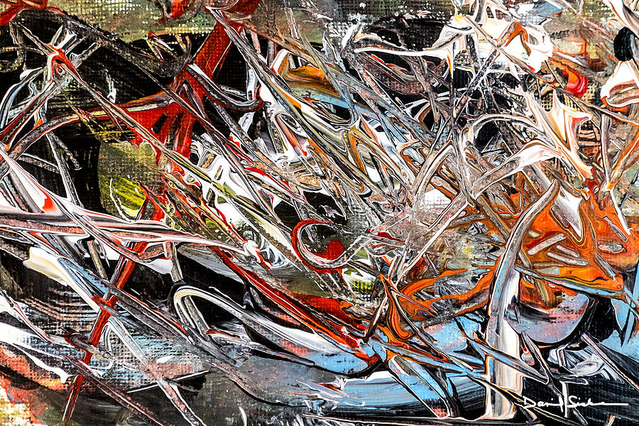 Abstract Painting - Crosscurrents by Dan Sisken