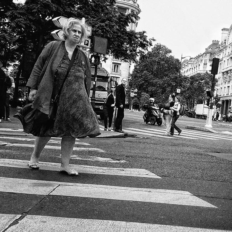 City Photograph - Crosser  #lady #woman #street #city by Rafa Rivas