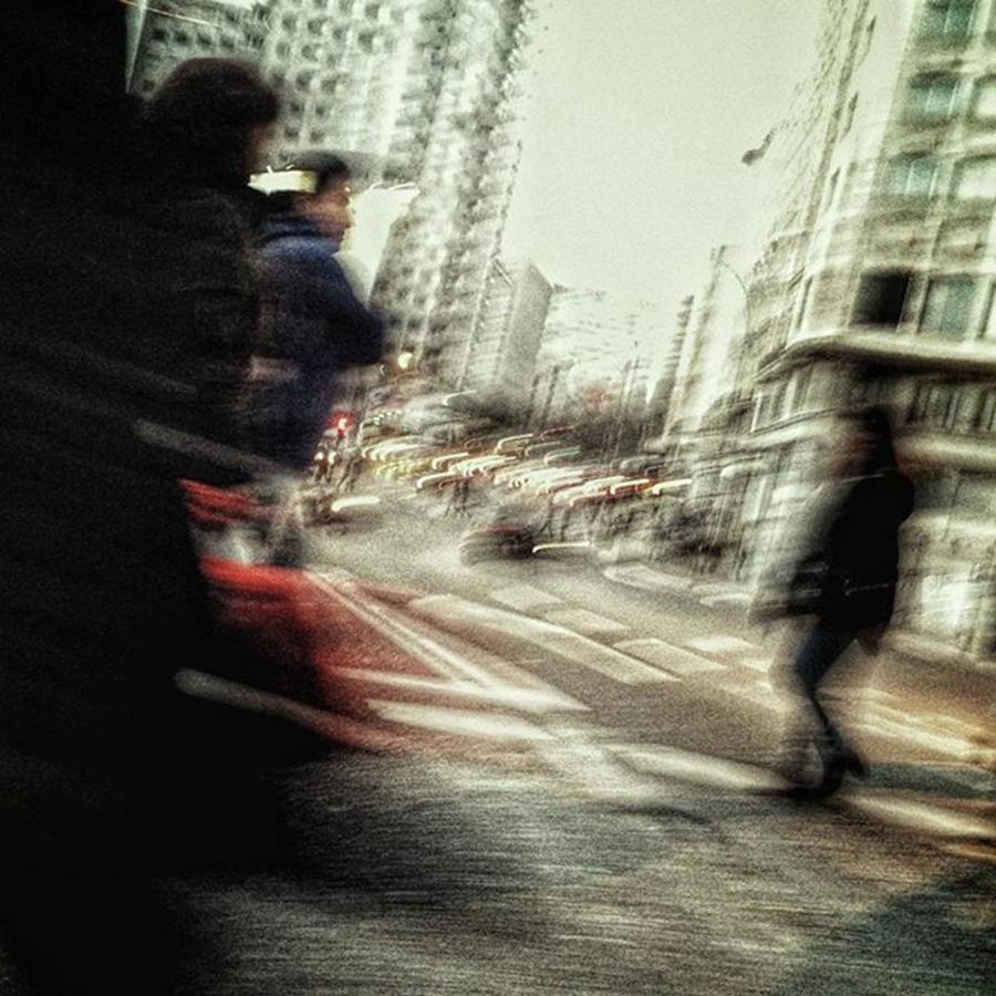 People Photograph - Crossers #streetphotography by Rafa Rivas