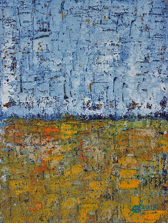 Crosshatched Marsh original painting by Sol Luckman