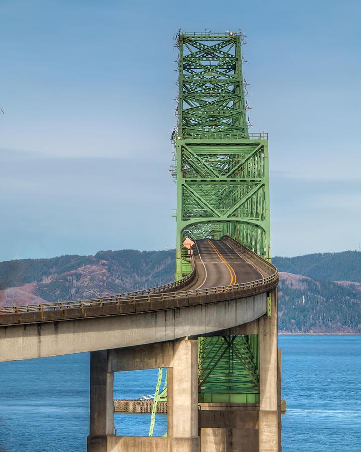 Bridge Photograph - Crossing Columbia by Kristina Rinell