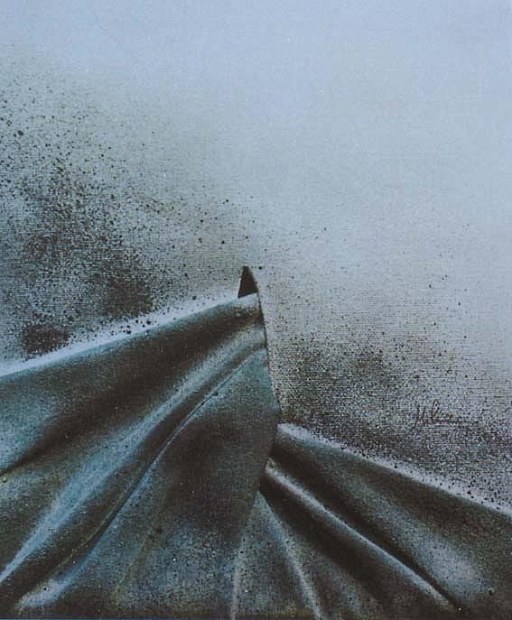 Crossing Painting by Milva Pierotti