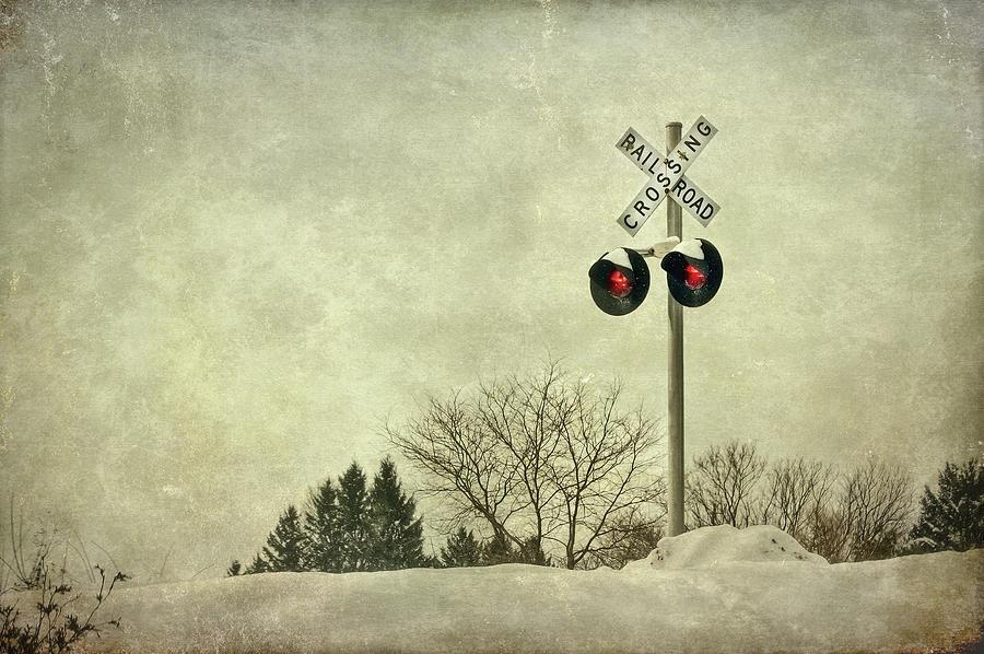 Rail Photograph - Crossing Over by Evelina Kremsdorf