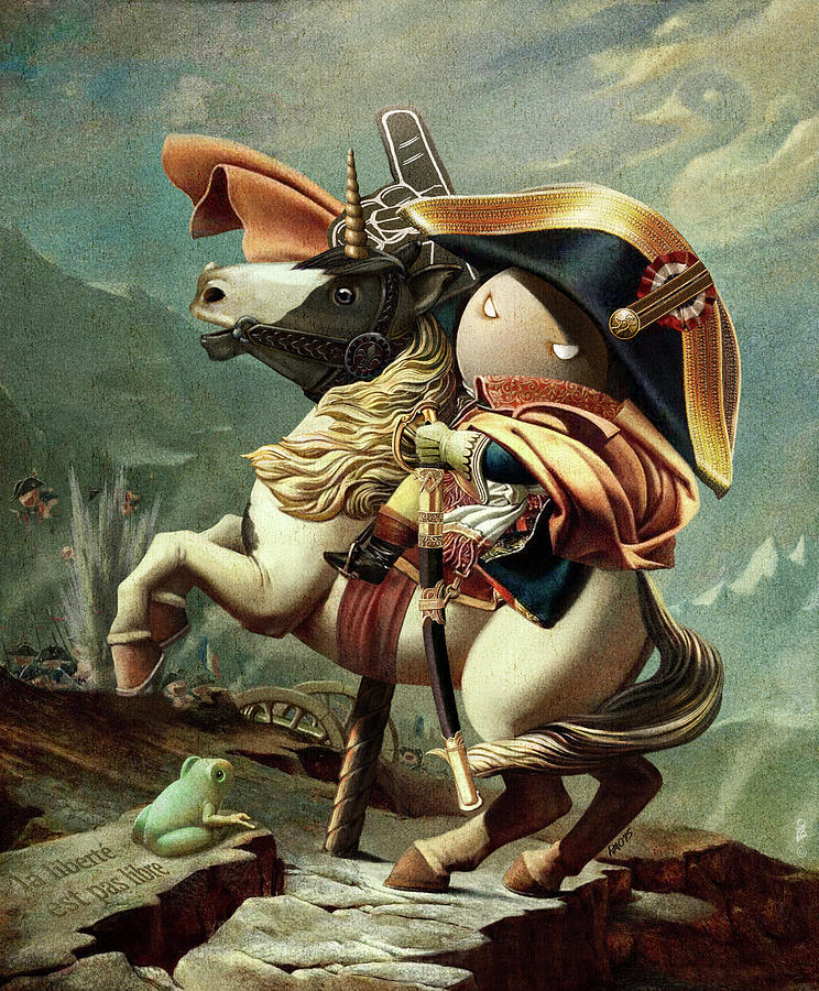 napoleon crossing the alps second versailles version Napoleon crossing the alps on 20th may 1800,  napoleon crossing the alps (also known as napoleon at the saint-bernard pass or  the second versailles version.