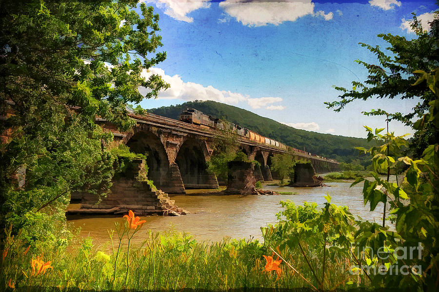 Landscape Photograph - Crossing The Susquehanna by Lois Bryan