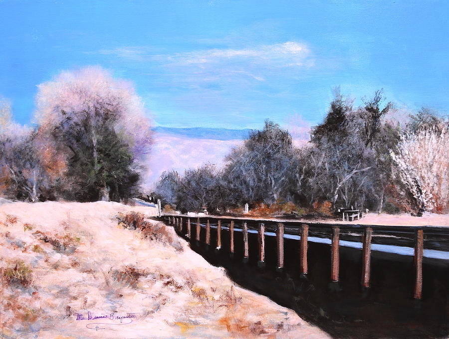 Tucson Painting - Crossing The Wash by M Diane Bonaparte