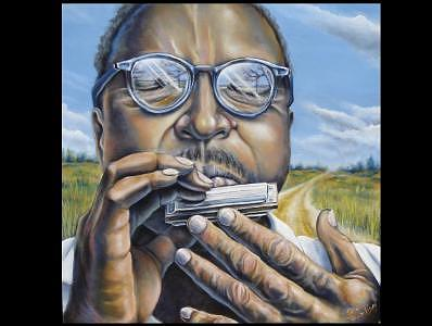 Blues Music Painting - Crossroads by Brett Caplinger