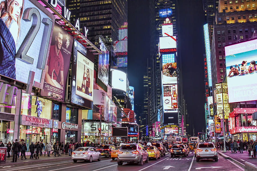 Times Square Photograph - Crossroads of the World by Zev Steinhardt