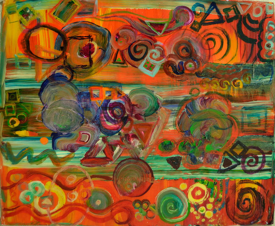 Colorful Painting - Crosstown by Walter Idema