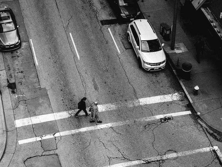 St. Louis Photograph - Crosswalk From Above by Dylan Murphy