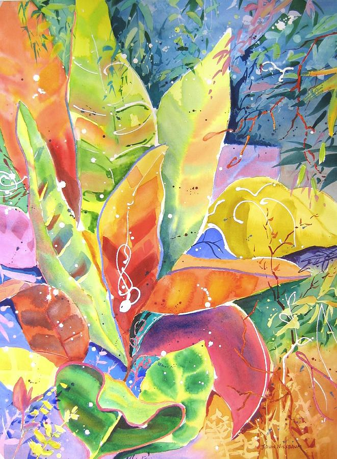 Abstract Paintings Painting - Croton Ll by John Nussbaum