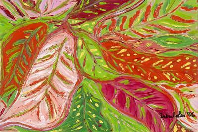 Crotons Painting - Crotons by Debra LaBar