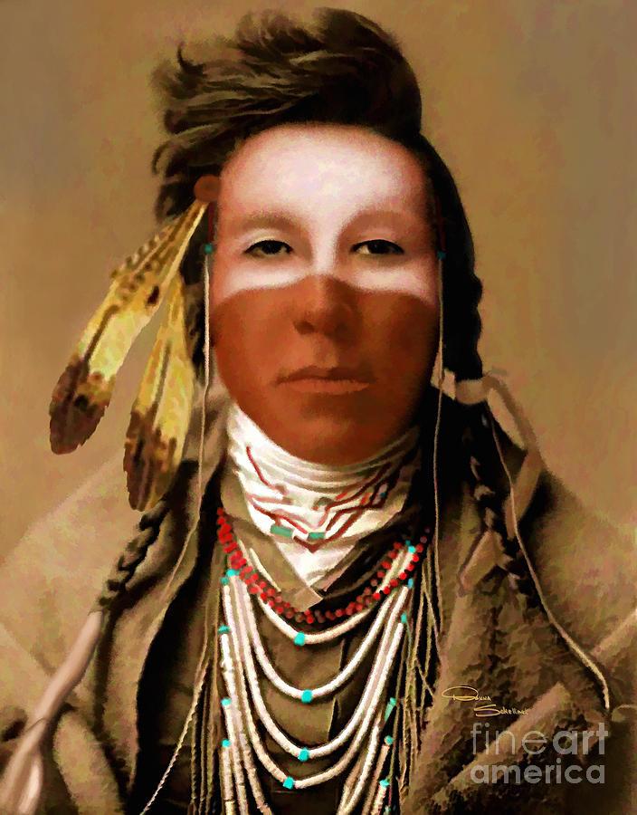 Portrait Painting - Crow Boy by Donna Schellack