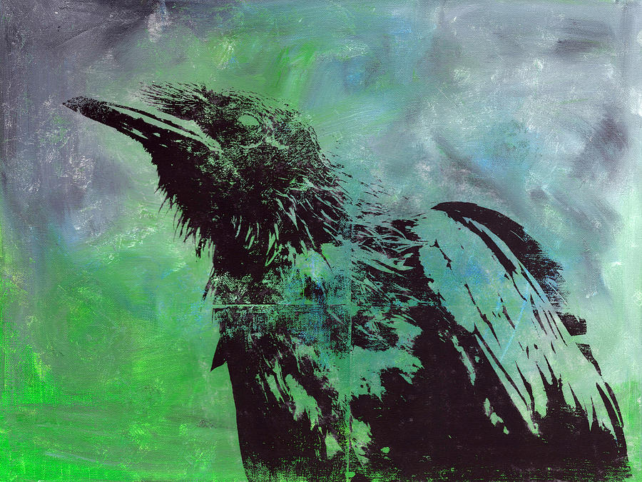 Crow Painting - Crow II by Matthew Daigle