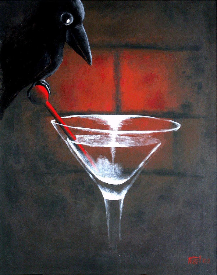 Crow Painting by Poul Costinsky