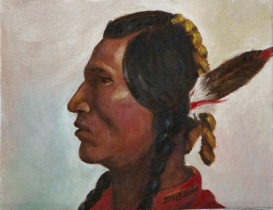 Native American Painting - Crow Warrior by Merle Blair