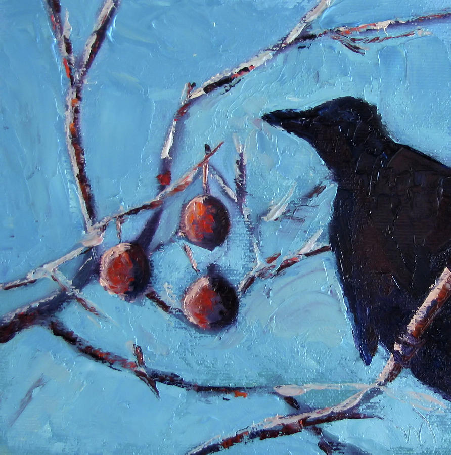 Crow Painting - Crow by Wendie Thompson
