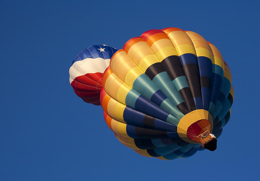 Balloon Photograph - Crowded Pattern by Mike  Dawson