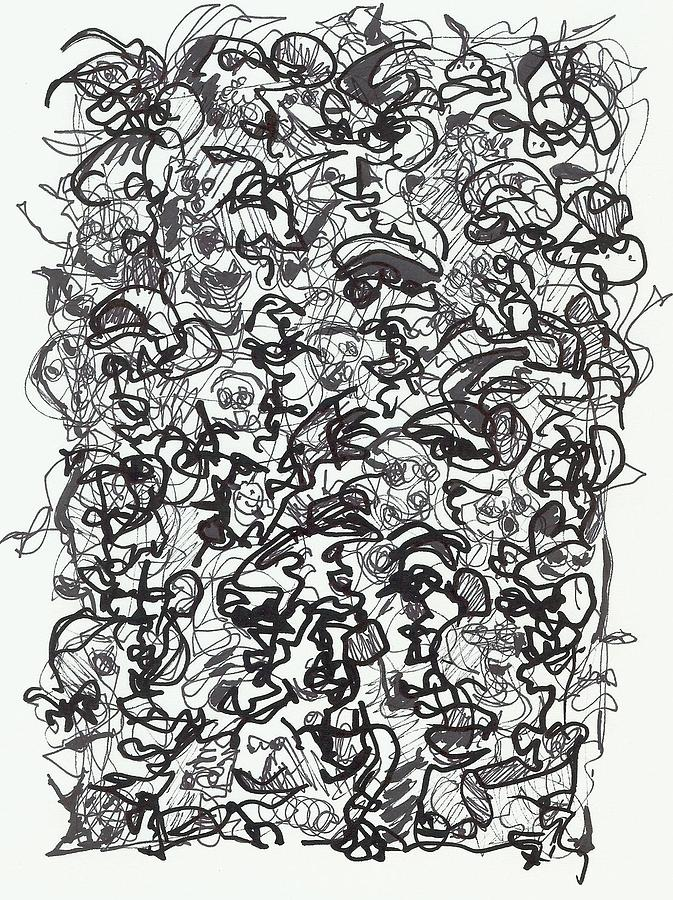 Drawing Drawing - Crowded Room by Steven Barrett
