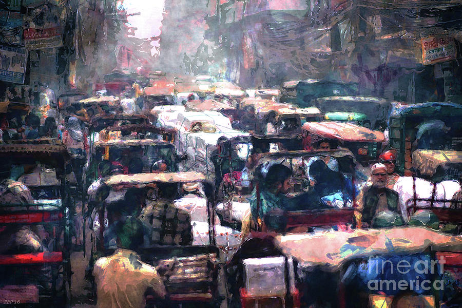 India Photograph - Crowded Streets by Phil Perkins